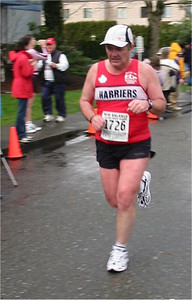2003 Comox Valley Half Marathon - Harrier Bus Trip organizer Randy Jones