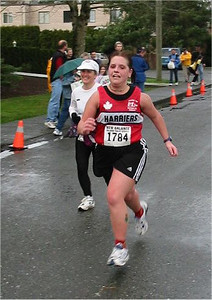 2003 Comox Valley Half Marathon - Alana Jones with a ferocious kick