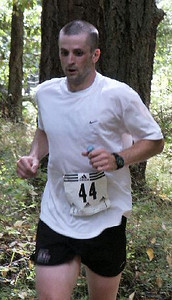 2003 Gutbuster Mount Doug - Adam Lawrence wearing his Victoria International Triathlon shirt