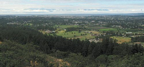2003 Gutbuster Mount Doug - The southwestern view from the summit