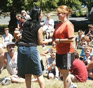 2003 Gutbuster Mount Doug - Alana Jones gets 2nd in the women's 5K Mini Buster