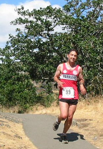 2003 Gutbuster Mount Doug - Chris Kelsall looks like a happy camper - maybe he's delirious