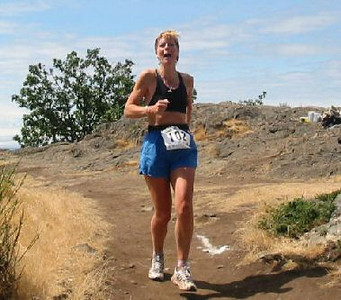 2003 Gutbuster Mount Doug - Debbie London happy that it's all down hill from here