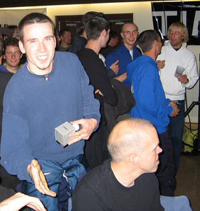 2003 Haney to Harrison Road Relay - Kris is mistakenly awarded  the prize for winning the stage