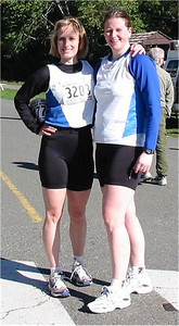 2003 Hatley Castle 8K - ...Then poses with Rachael Eyre