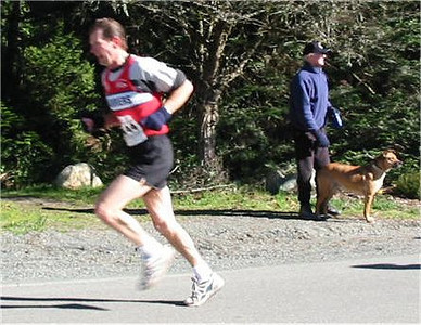 2003 Hatley Castle 8K - Karl Benn chases his son up the hill