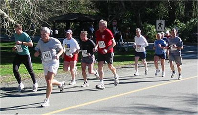2003 Hatley Castle 8K - Big Dan Fraser - a grizzled Royal Roads campaigner