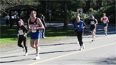 2003 Hatley Castle 8K - Mel Brodt rounds the corner