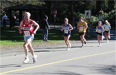 2003 Hatley Castle 8K - Bill Scriven confronts the big hill