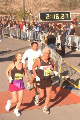 2003 Las Vegas Half Marathon - Brian's next goal is to break 2:00 at the Comox Half!