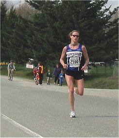 2003 Sooke River 10K - Carla Dunn wins the women's race