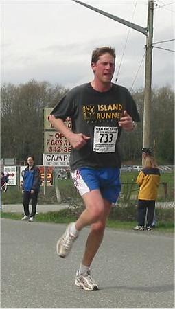 2003 Sooke River 10K - Victoria running legend Jody Lee making a comeback