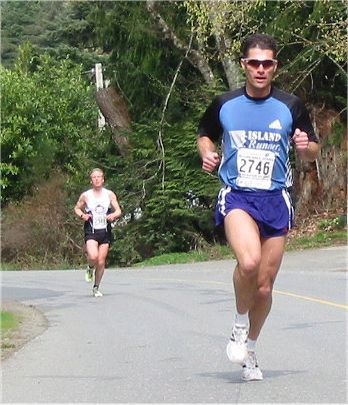 2003 Sooke River 10K - Cliff Kennell and Brodie Guild