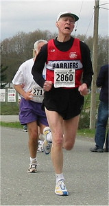 2003 Sooke River 10K - Jim Sargent runs 59:27 to celebrate his recent 80th birthday!