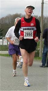 2003 Sooke River 10K - Jim Sargent runs 59:27 to celebrate his recent 80th birthday!