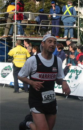 2003 Times-Colonist 10K - Dr. A. looks on as Chris finishes