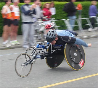 2003 Times-Colonist 10K - The wheelchair start