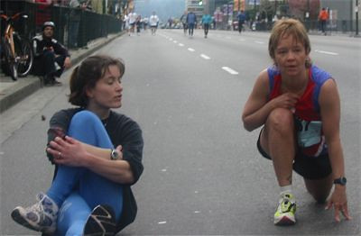 2003 Vancouver Sun Run - Kathy Rung and Shelagh Germyn