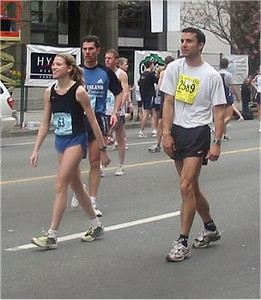 2003 Vancouver Sun Run - Stephanie Mills, Cliff Kennell and Mark Creery