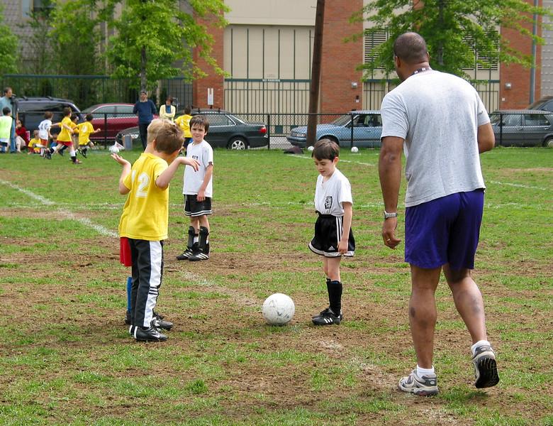 Benjamin at the kick off