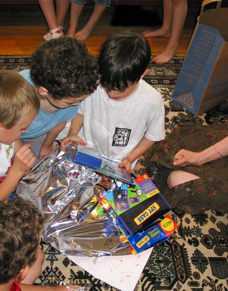 Benjamin opening presents