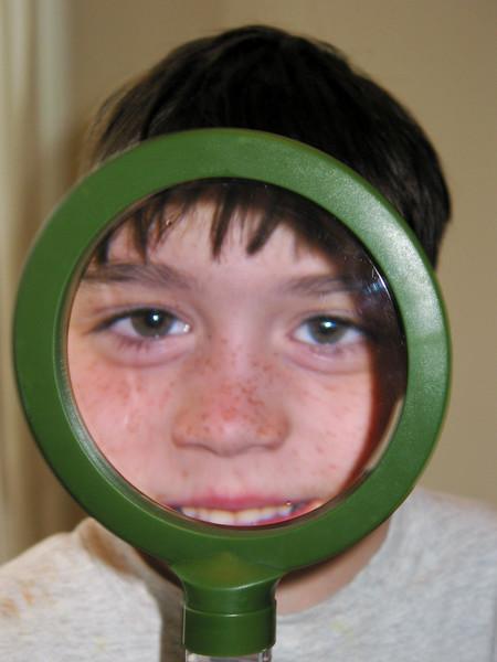 Benjamin in magnifying glass