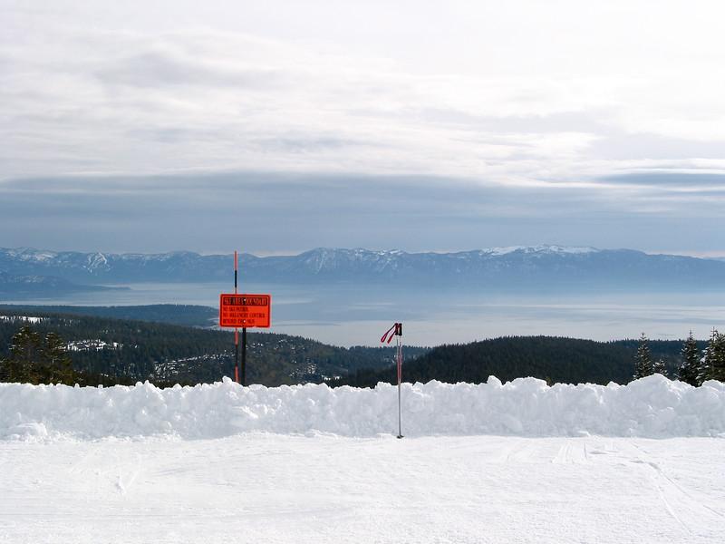 Alpine Meadows, looking over Lake Tahoe