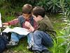 Benny and Benjamin looking at a map