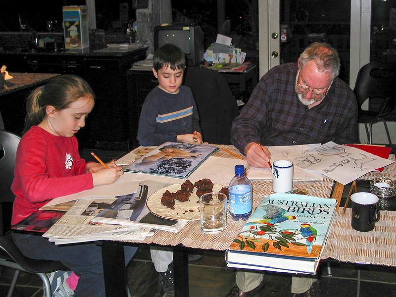 In Berkeley: Isabel, Benjamin, and Grandpa Edmund