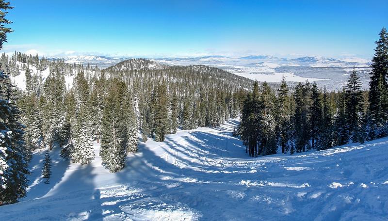 Northstar, ungroomed ski slope