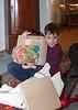 Benjamin showing off present