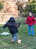 Benjamin and Isabel playing soccer