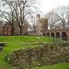 Inside the walls, older ruins