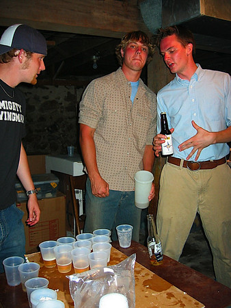 Nick and Long playing playing beer pong.JPG