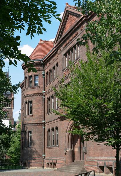Sever Hall: west facade