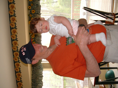 May 2-4, 2003 photos  (Hailey receives a visit from Grandpa Warren and Grandma Jeanne along with Frank and Linda. She goes to Gymboree, Grandpa's race and has the first or many birthday celebrations.)