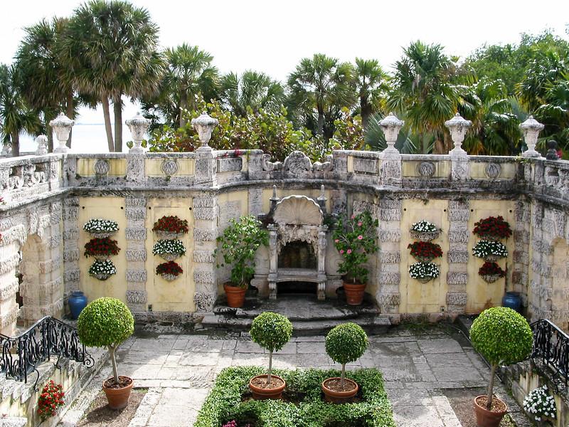 Vizcaya, looking into the Secret Garden