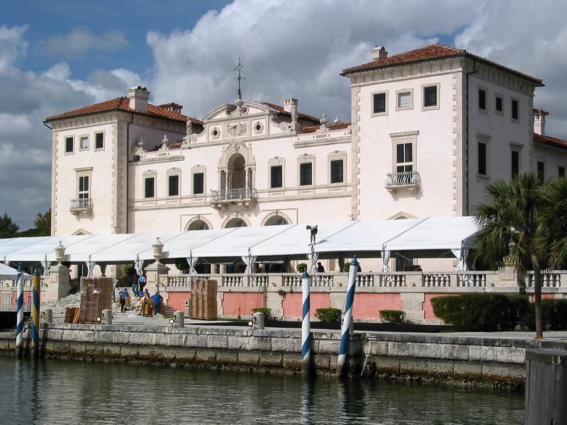 Vizcaya, east facade, on Biscayne Bay