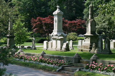 Mt. Auburn Cemetery and Flowers, July 2003