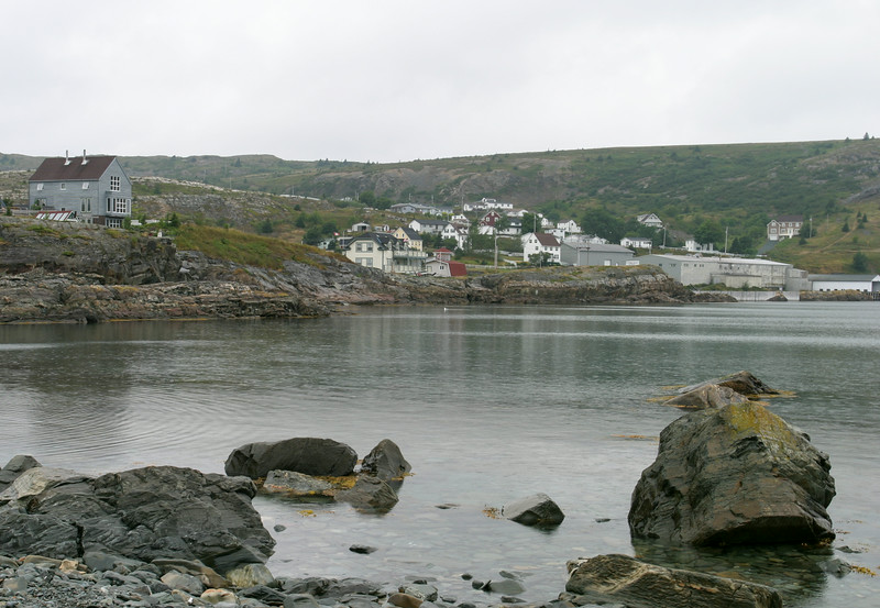 The village of Brigus, just a few houses at the end of the harbor