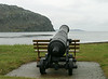In Cupids, a lone cannon stands ready to repel invaders