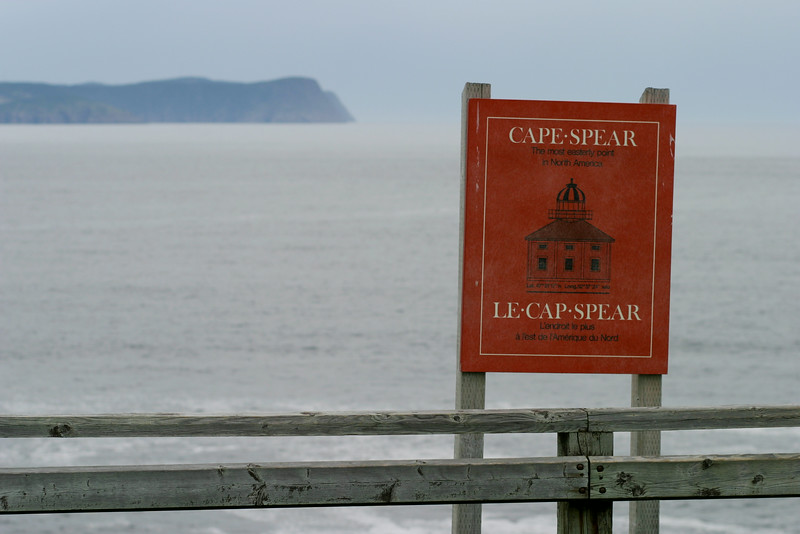 Cape Spear sign