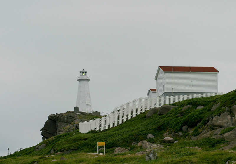 The lighthouse on the bluffs