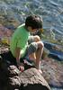 Benjamin on the rocks