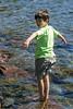 Benjamin striking a rather balletic pose