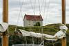 House and sailboat masts