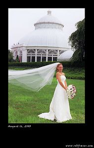 The Bride at the New York Botanical Gardens