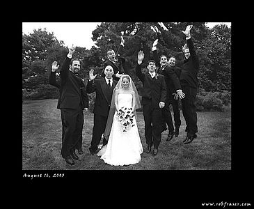 Wendy and Jon with the Groomsmen (jumping courtesy of Bobby and Lauren's wedding!)