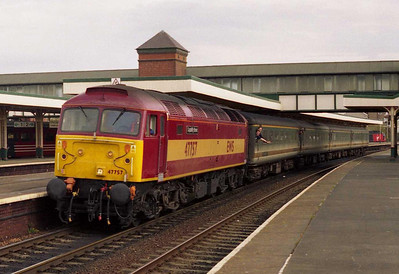 47757 is seen again departing Llandudno Junction with 1D71 1221 Birmingham-Holyhead (14/04/2003)