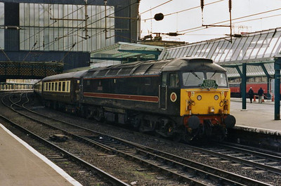 47709 is seen again on arrival at Carlisle after the run over the S&C (05/04/2003)
